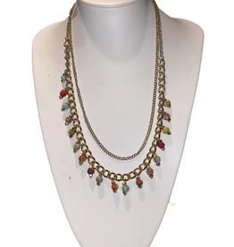 Ten Thousand Villages Necklace Dangle/Chain Multi Color Sari