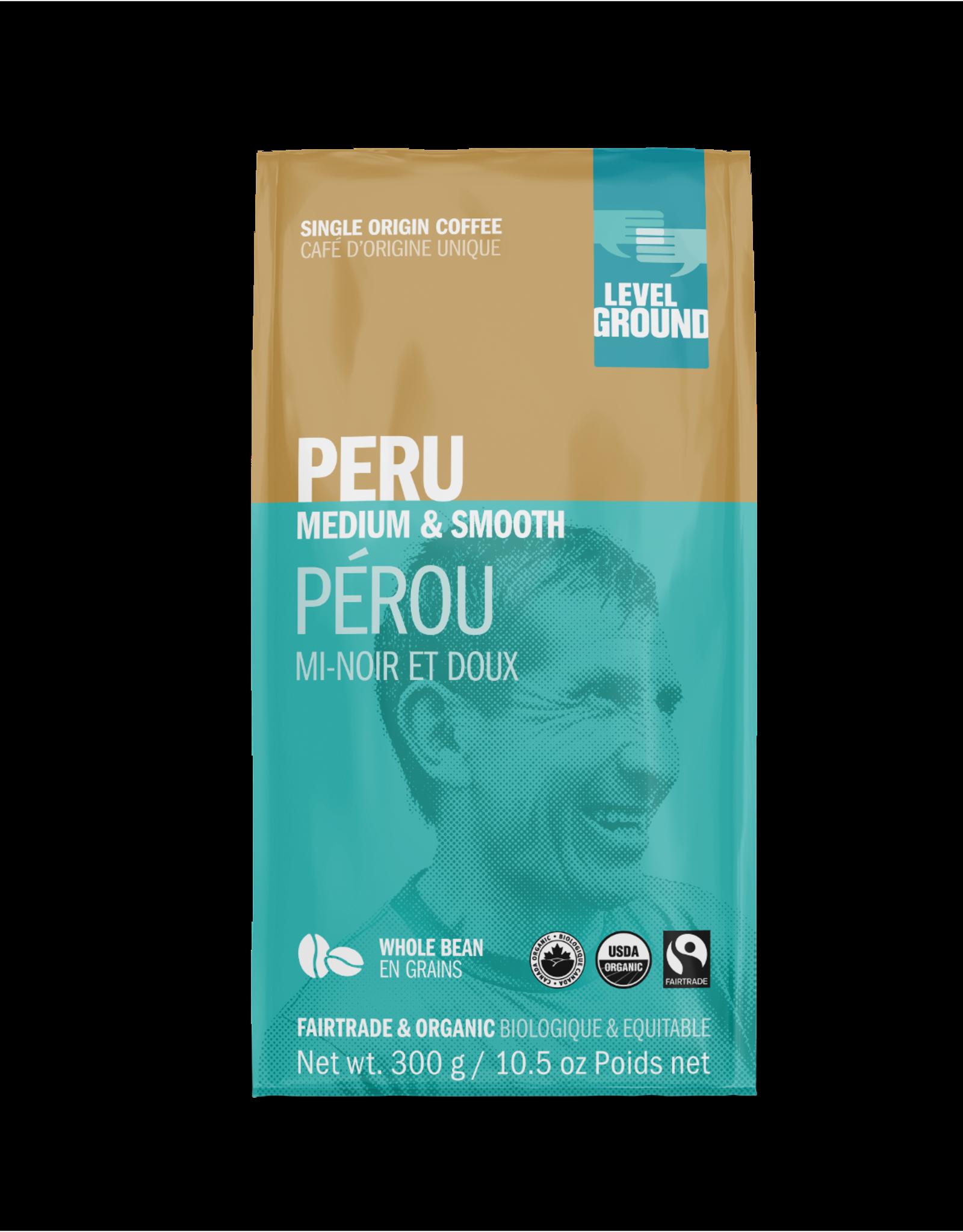 Level Ground Coffee, Peru Medium & Smooth, Bean 300g