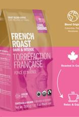 Level Ground Coffee, French Roast Dark & Intense, Ground300g