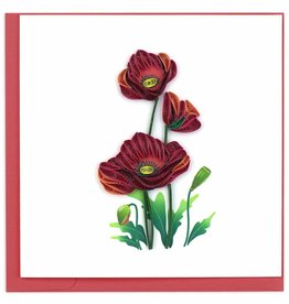 Kalyn Imports Card Quilled Red Poppies - Vietnam