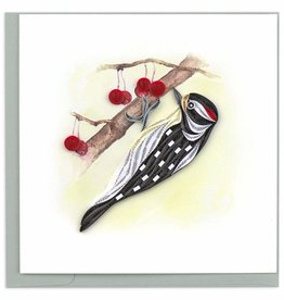 Kalyn Imports Card Quilled Downy Woodpecker