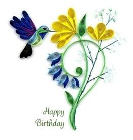 Kalyn Imports Card Quilled Birthday Hummingbird - Vietnam