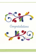 Kalyn Imports Card Quilled Congratulations Swirl