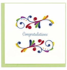 Kalyn Imports Card Quilled Congratulations Swirl - Vietnam