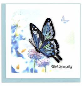 Kalyn Imports Card Quilled Sympathy Butterfly - Vietnam