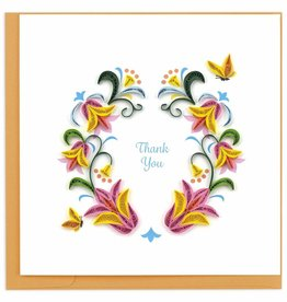 Kalyn Imports Card Quilled Thank You Flower Wreath - Vietnam