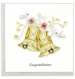 Kalyn Imports Card Quilled Wedding Bells - Vietnam