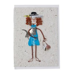 TTV USA Crazy For Cats Greeting Card - Kenya