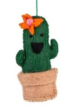 TTV USA Ornament Orange Flower Cactus