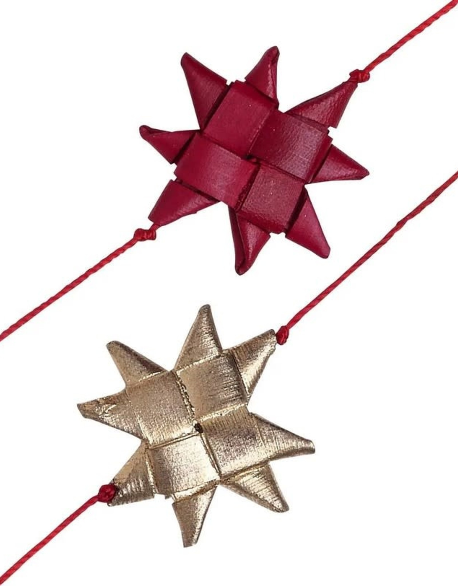 TTV USA Red & Gold Palm Star Garland