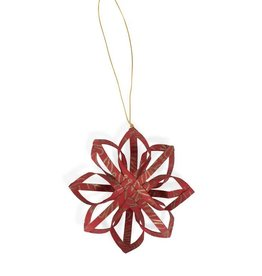 TTV USA Ornament Touch of Gold Star Red