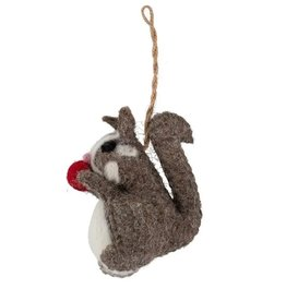 TTV USA Ornament Happy Squirrel Felt