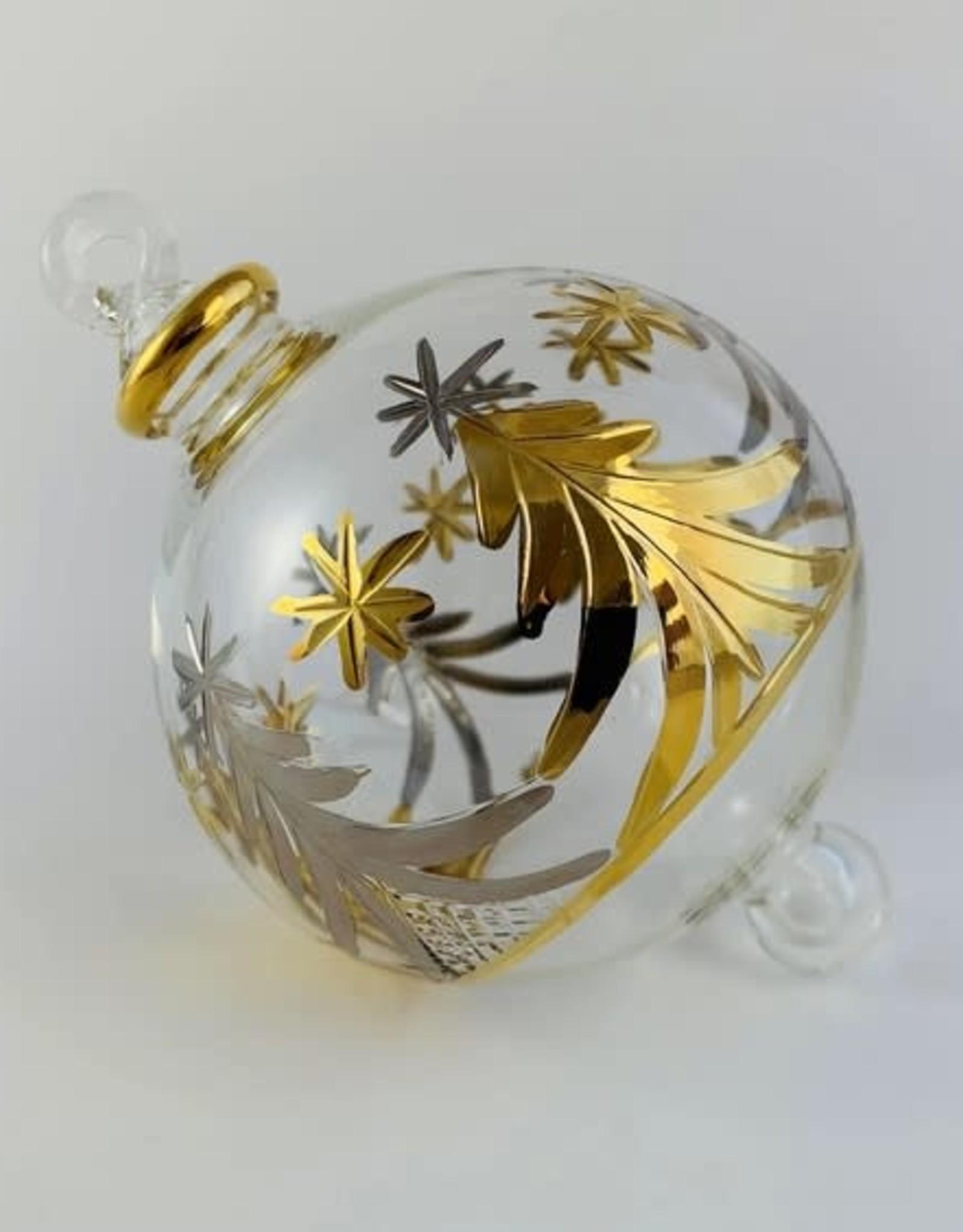 Dandarah Silver & Gold Ornament Hand Blown Glass - Egypt