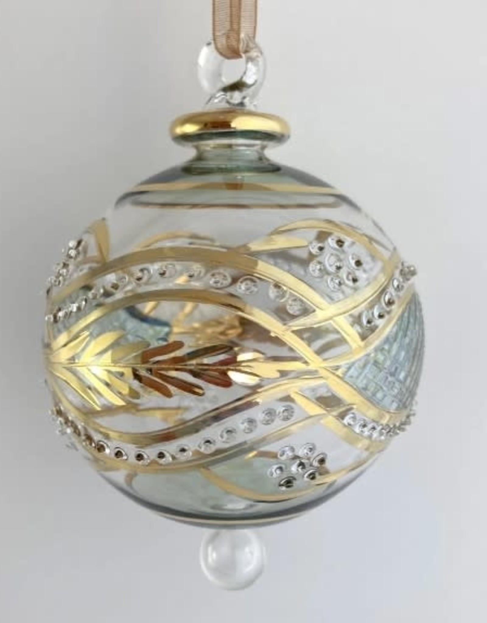 Dandarah Green Garland Ornament Hand Blown Glass - Egypt