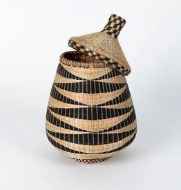 Soko Home Teardrop Basket, Black - Rwanda