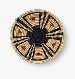 "Soko Home Akazi Bowl, Burnt Orange & Black 12"" -Rwanda"