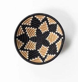 Soko Home Akaneri Bowl Tea Diamonds on Black 7 in - Rwanda