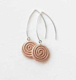 Soko Home Ziga Earrings Blush - Rwanda