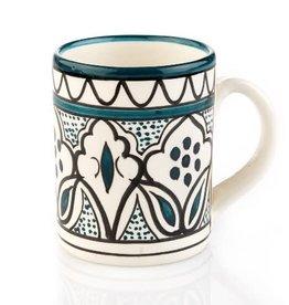 Serrv Mug Teal Jasmine Ceramic - West Bank