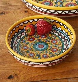 Serrv Bowl Medium Yellow Design - West Bank