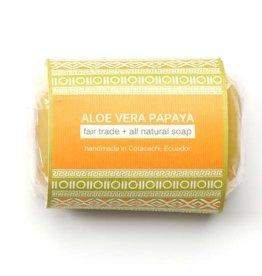 Serrv Soap Aloe Vera Papaya - Ecuador