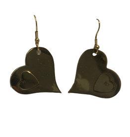 Heart to Heart Brass Earrings - India