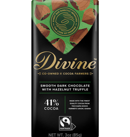 Divine Chocolate Divine Dark Chocolate Hazelnut Truffle