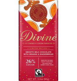 Divine Chocolate Divine Milk Chocolate with Orange & Gingerbread