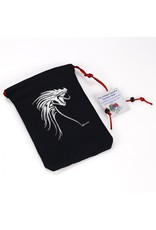 Dice Silver Tribal Dragon/Black Bag