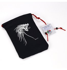 Silver Tribal Dragon/Black Bag