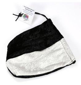 Black & White Velvet Dice Bag