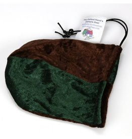 Brown & Forest Velvet Dice Bag