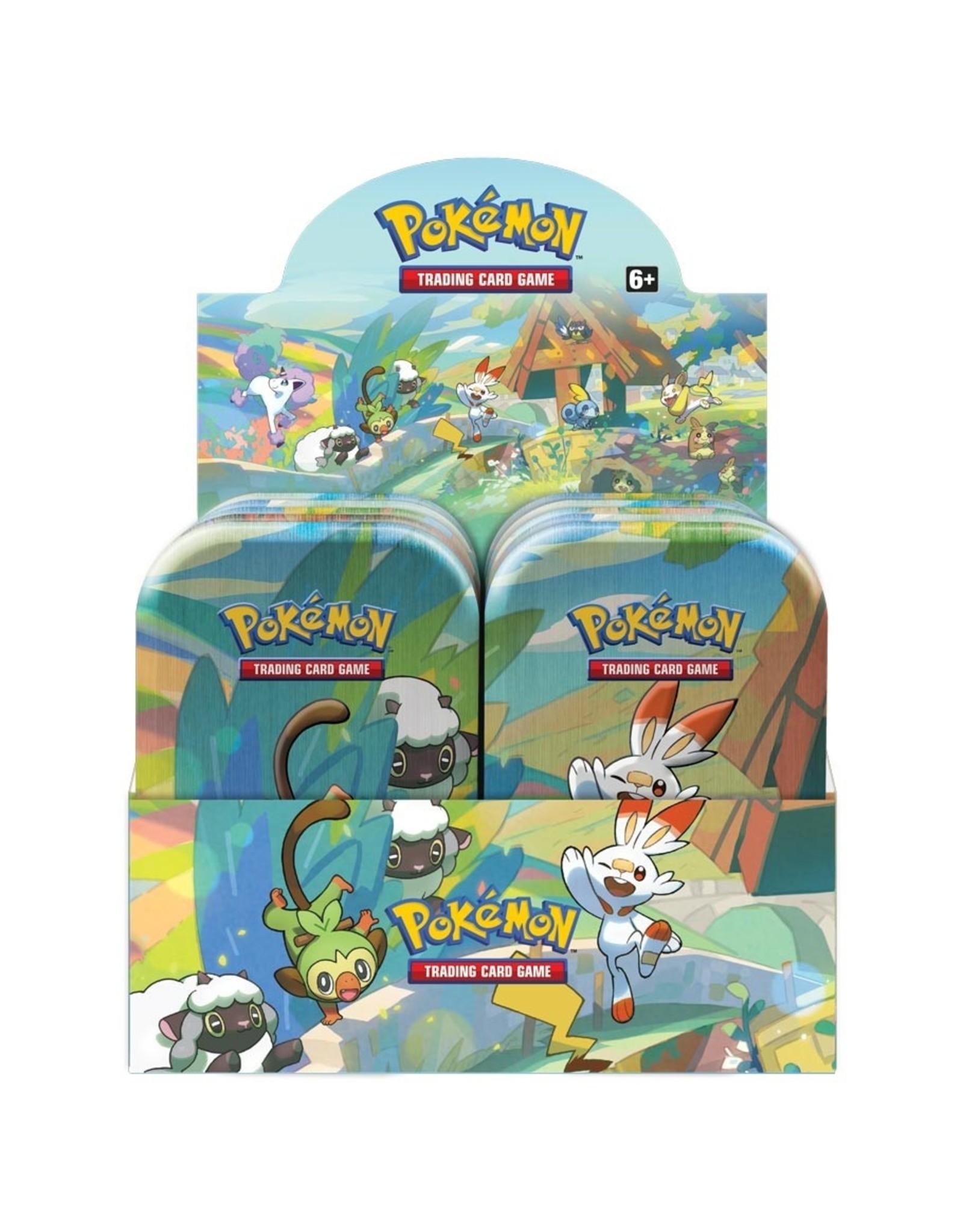 Pokemon PKM: Galar Pals Mini Tin Display
