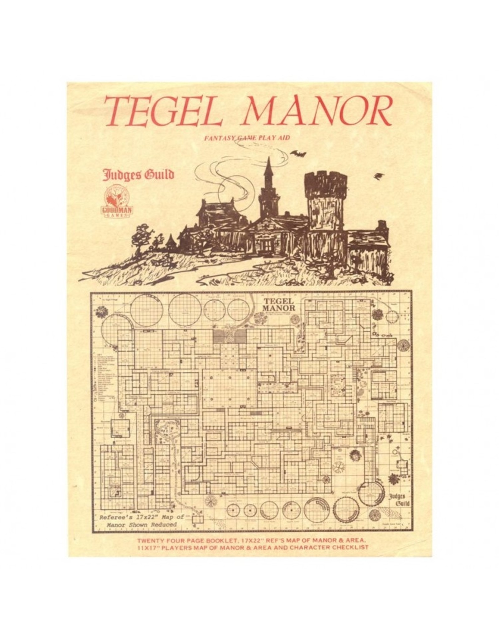 Goodman Games Judges Guild: Tegel Manor