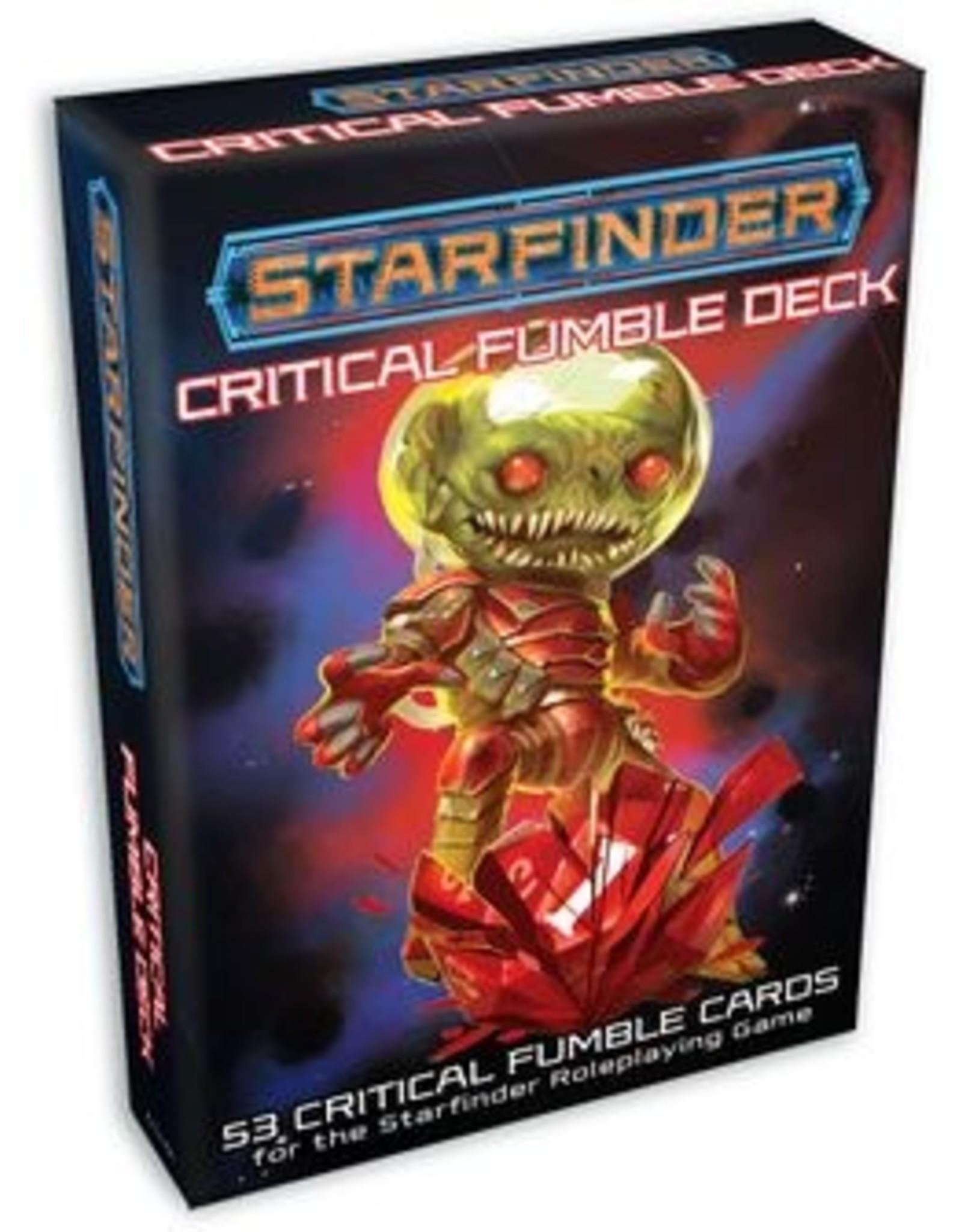 Paizo Publishing Starfinder RPG: Critical Fumble Deck