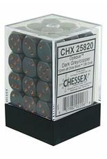 Chessex Opaque Dark Grey w/copper 12mm