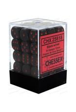 Chessex d6Cube12mmOP BKrd (36)