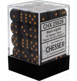 Chessex d6Cube12mmOP Bkgo (36)