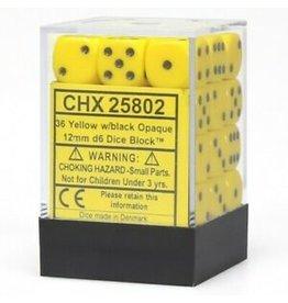 Chessex d6Cube12mmOP YEbk (36)