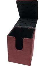 Ultra Pro Deck Box: Alcove Flip: Suede: Ruby