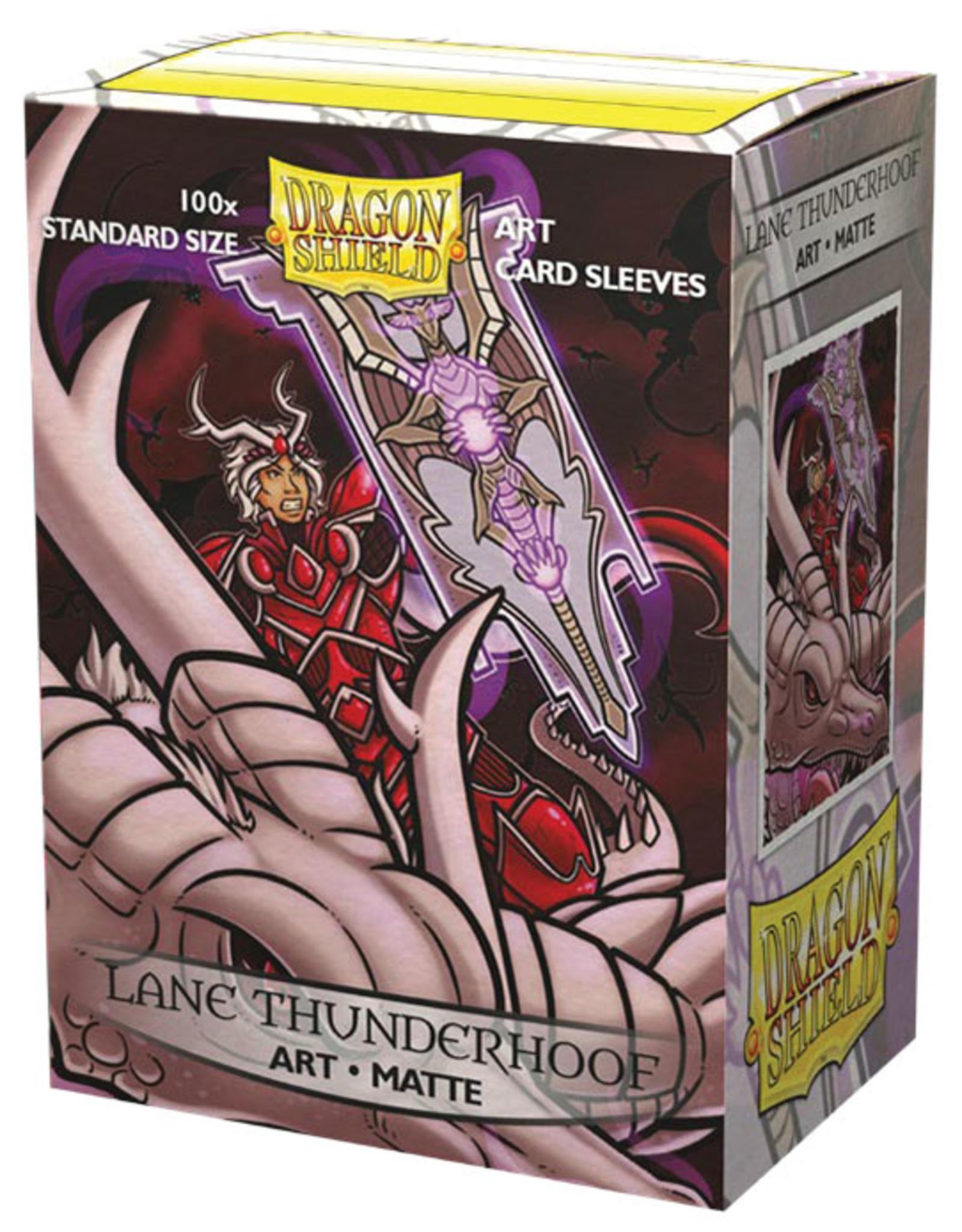 Dragon Shield: (100) Brushed Art Sleeves - Lane Thunderhoof Portrait