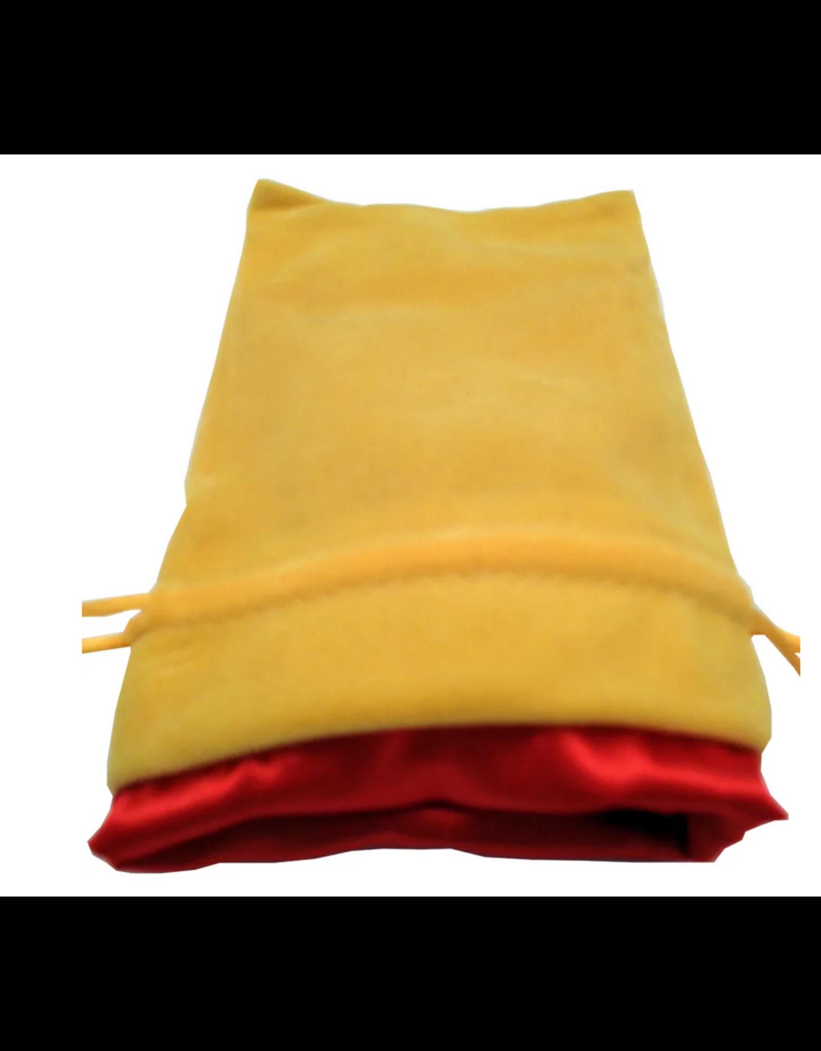 Dice 4in x 6in Gold Velvet Dice Bag