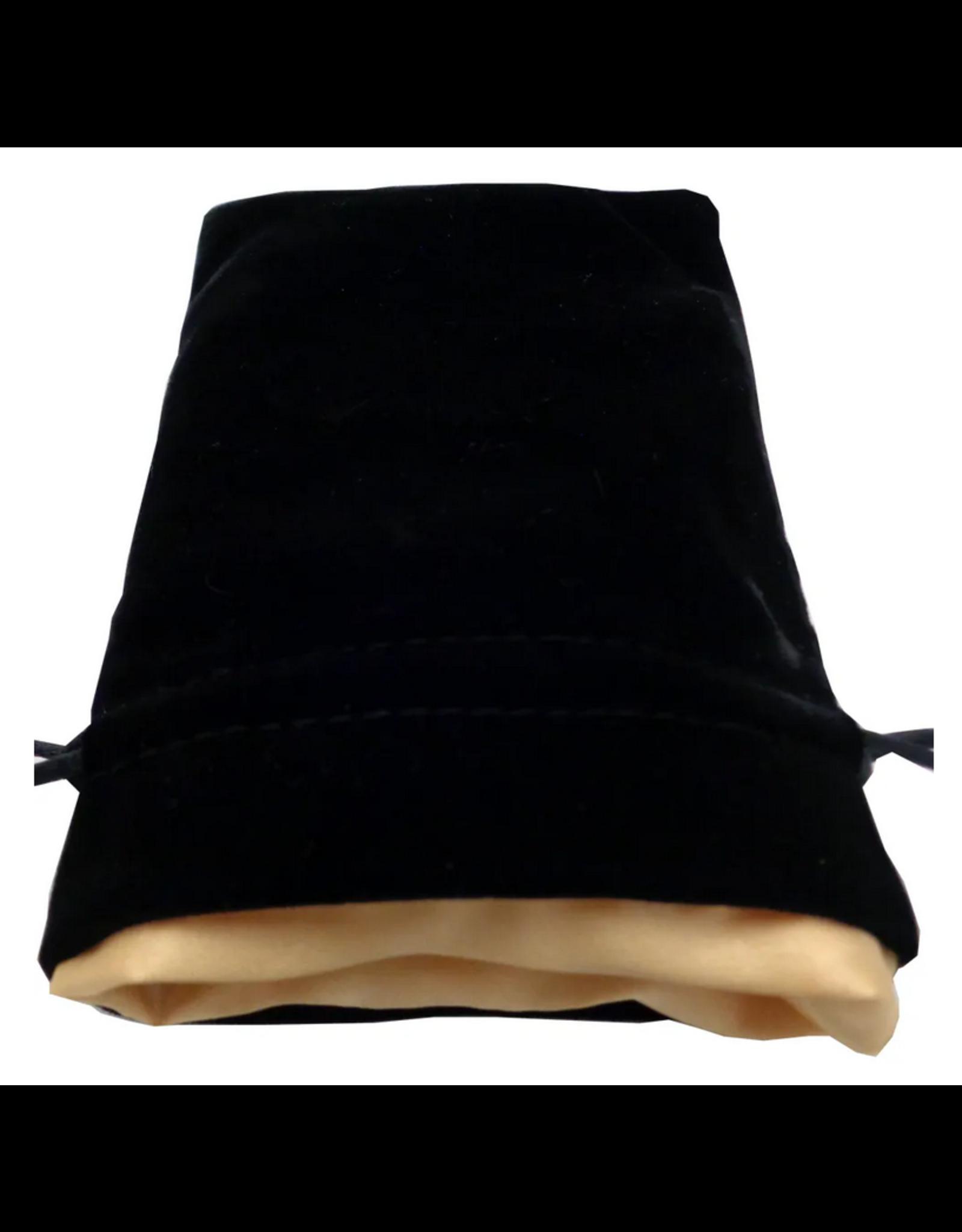 Dice 4in x 6in Black Velvet Dice Bag