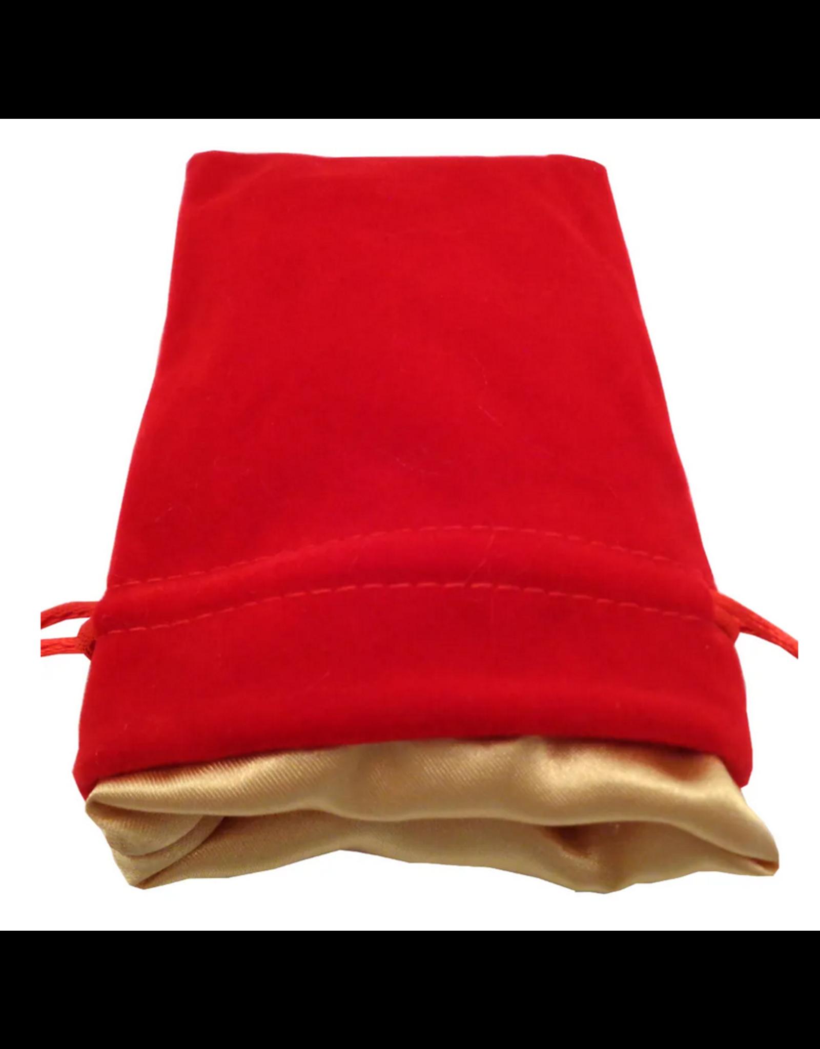 Dice 4in x 6in Red Velvet Dice Bag
