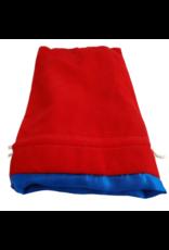 6in x 8in Large Red Velvet Dice bag