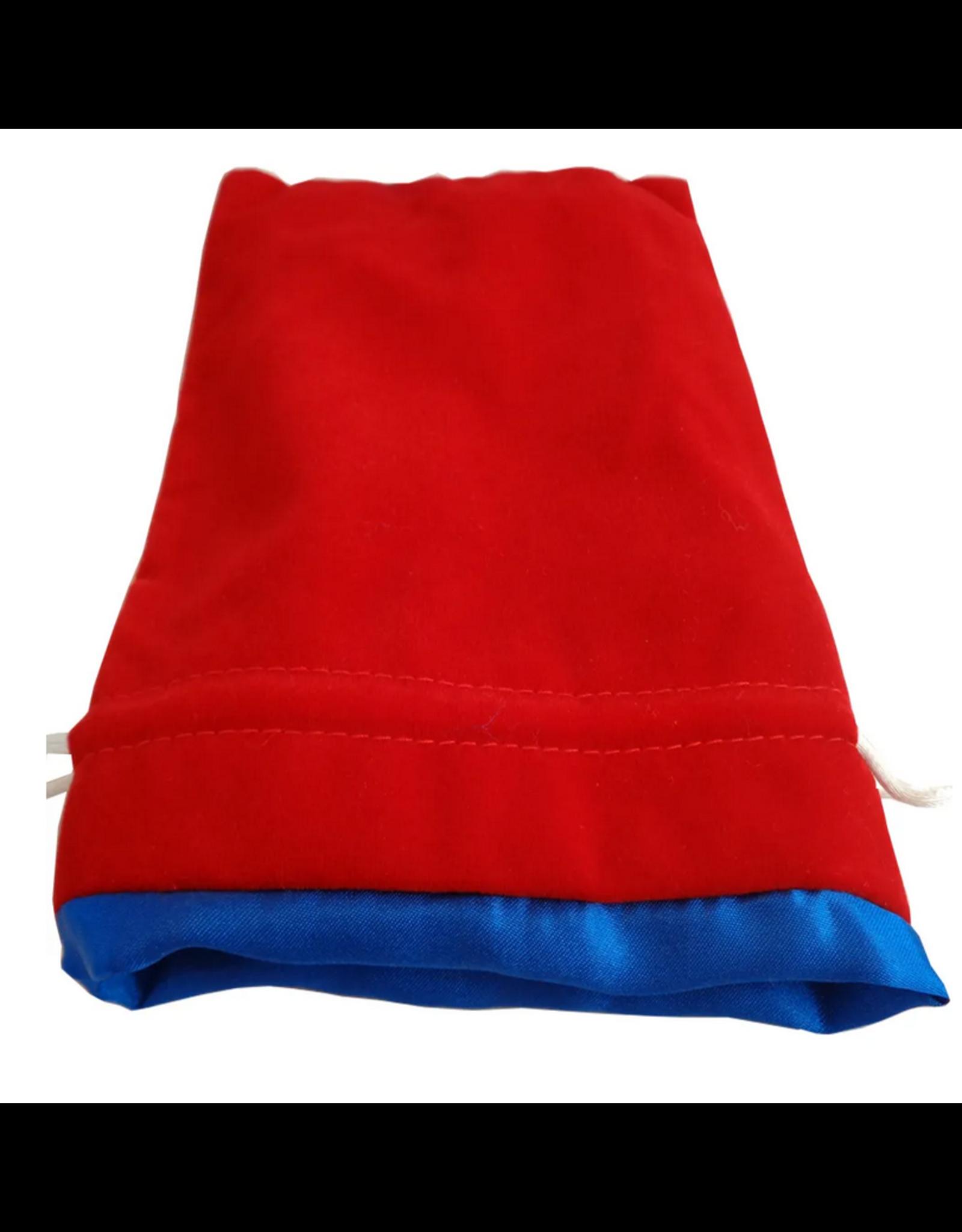 Dice 6in x 8in Large Red Velvet Dice bag