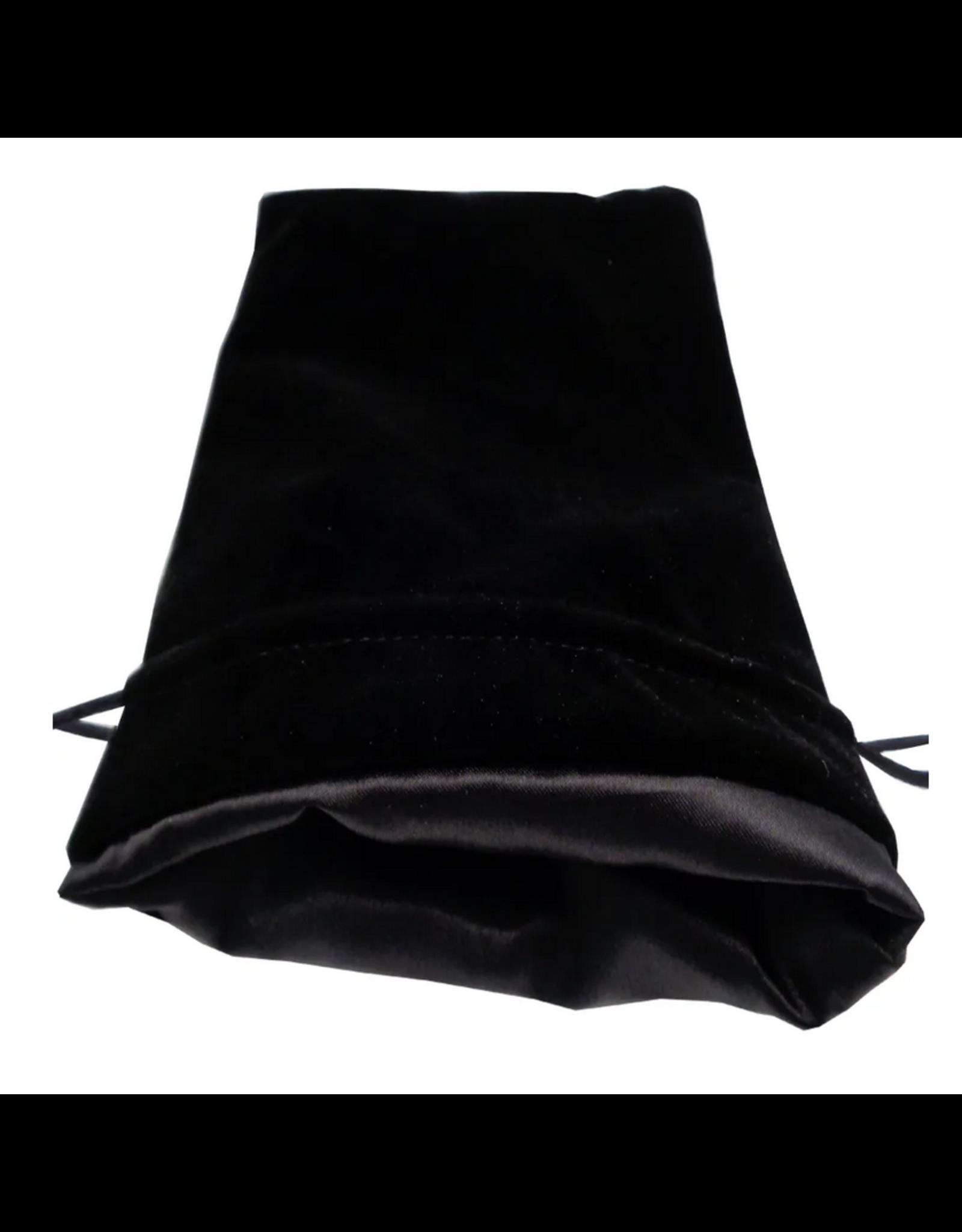 Dice 6in x 8in Large Black Velvet Dice Bag