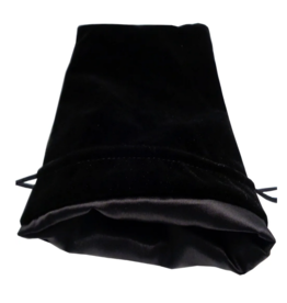 6in x 8in Large Black Velvet Dice bag