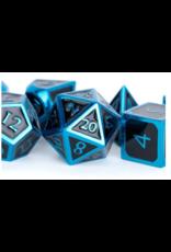 Metallic Dice Games 7-set: 16mm: BKBUbu Metal Enamel