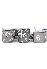 Dice 16mm Sterling Gray Metal Polyhedral Dice Set